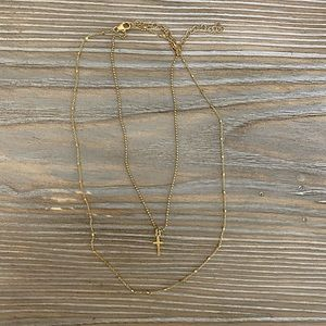Gold Cross Layered Necklace!
